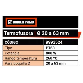 TERMOFUSORA 20 A 63 mm...