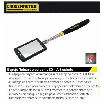 ESPEJO TELESCOPICO CON LED...
