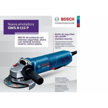 """Amoladora Angular Bosch GWS 8-115 4 1/2"""""""