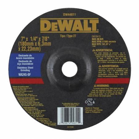 Disc.desb.DW44811 O.Alum./Inox.180x6x22 CD