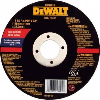 Disco de corte DW44618...