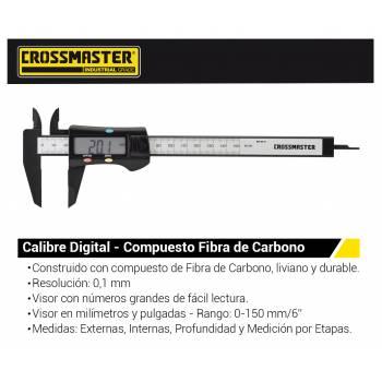 CALIBRE DIGITAL 150MM FIBRA...